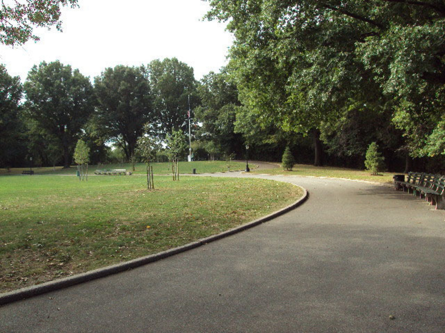 Path through Mount Prospect Park (original site of the reservoir)