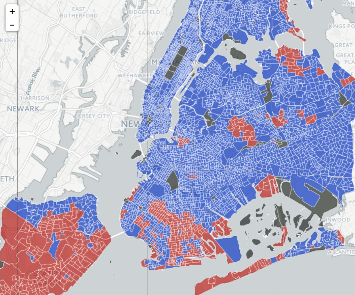 Here39s How Every NYC Neighborhood Voted In The 2016