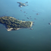 Columbia Island (2nd from right)