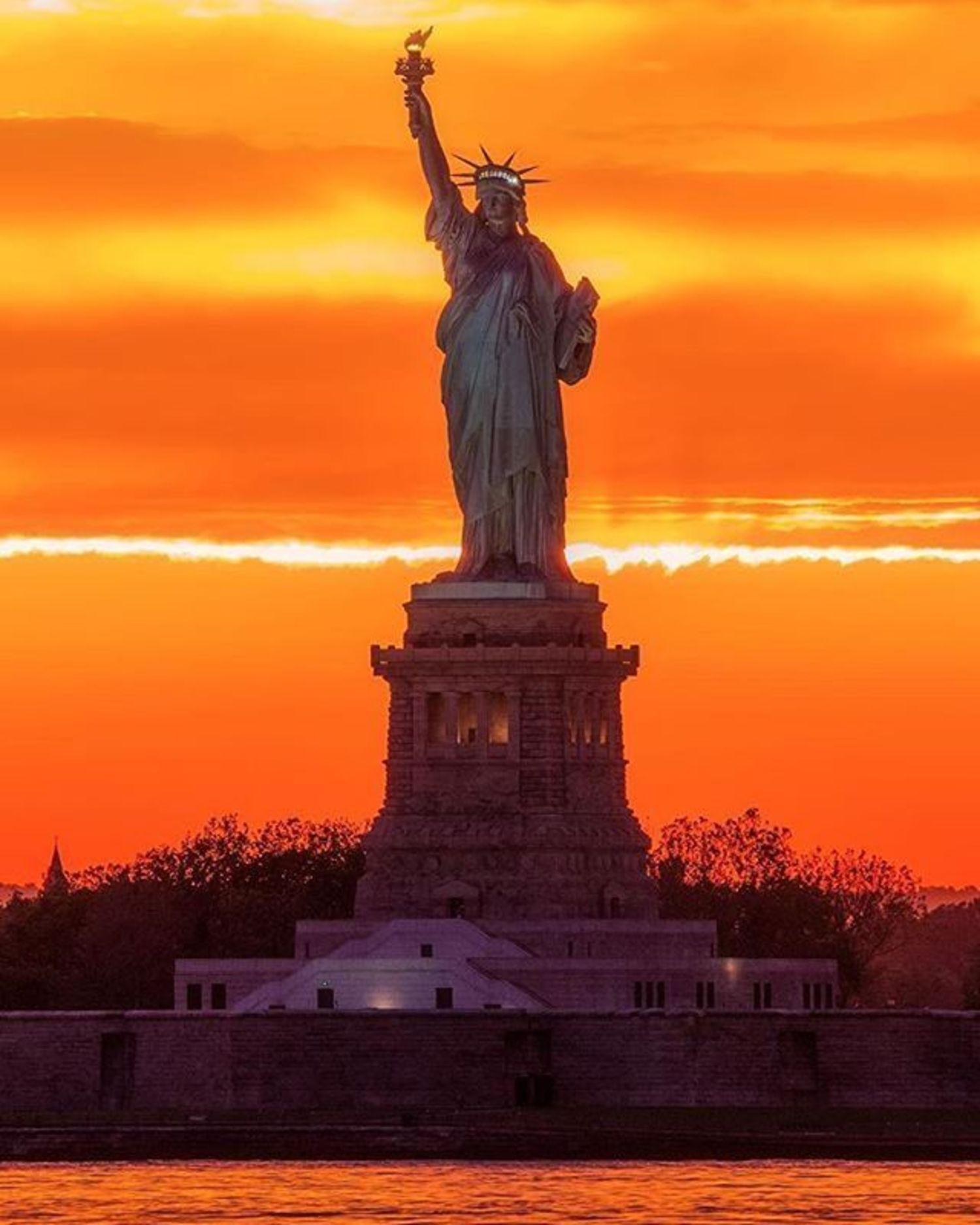 Statue of Liberty, New York, New York. Photo via @gettyphotography #viewingnyc