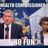 Mayor Bill de Blasio, left, with Health Commissioner Dr. Mary Bassett.