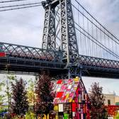 Tom Fruin's Stained Glass House near the Williamsburg Bridge