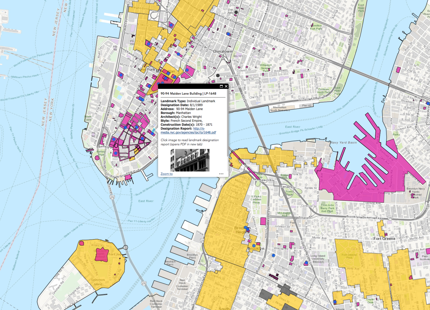 Learn About New York Cityu0026#39;s 36000 Landmarked Buildings And Sites With This Interactive Map ...