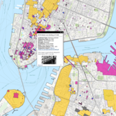 Discover NYC Landmarks Interactive Map (screenshot)