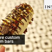 These are incredible custom-made ice cream bars