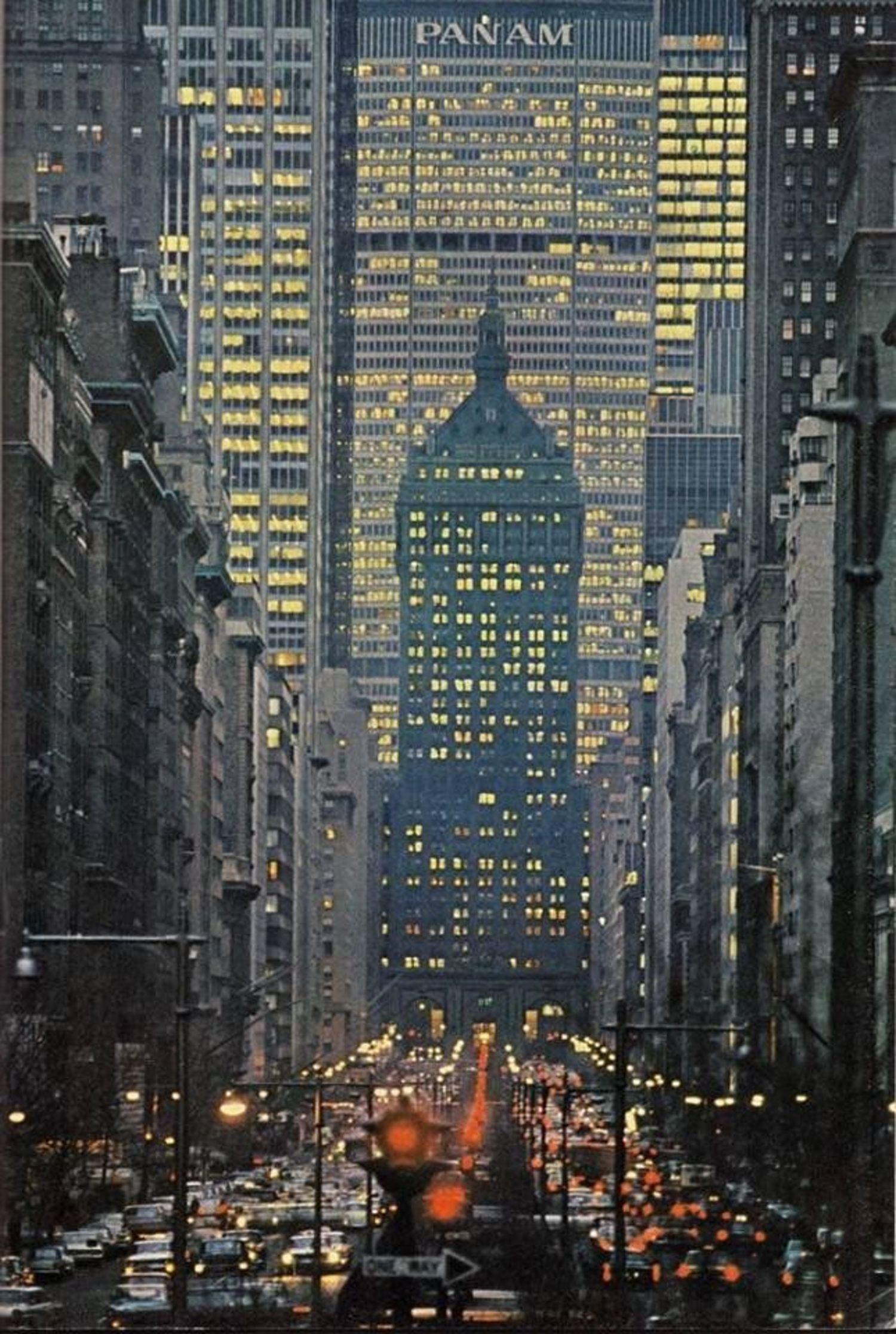 Vintage Photograph Shows Park Avenue And Pan Am Building