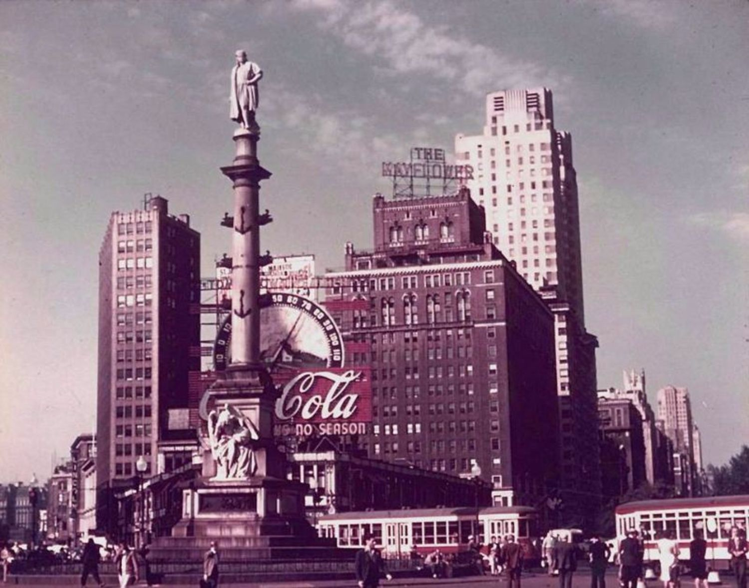 Columbus Circle, New York City, 1952