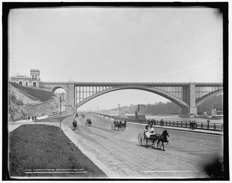Washinton Bridge and Speedway, Washington Heights, Manhattan, 1901