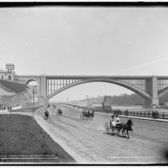 Washinton Bridge and Speedway, Washington Heights, Manhattan, 1901