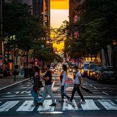 Sunset in Midtown, Manhattan