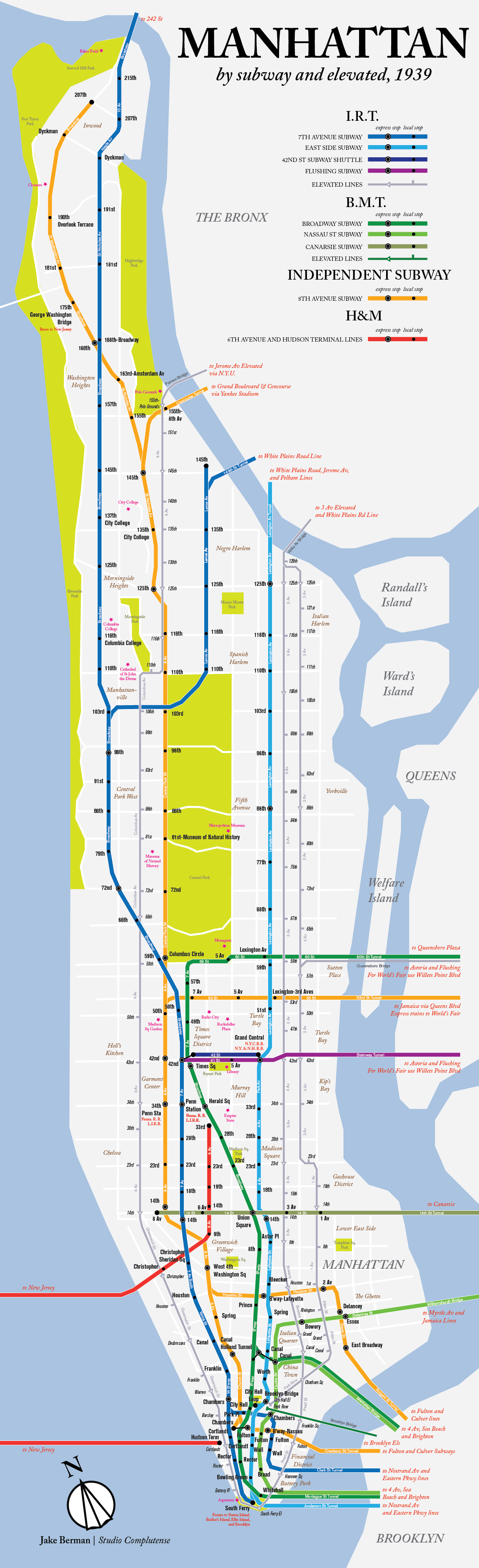 New Subway Map 2nd Ave.Check Out This Modern Map Of Manhattan S 1939 Subway And Elevated