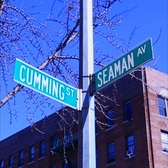 On the corner of Seaman and Cumming 🙊  | Curbed