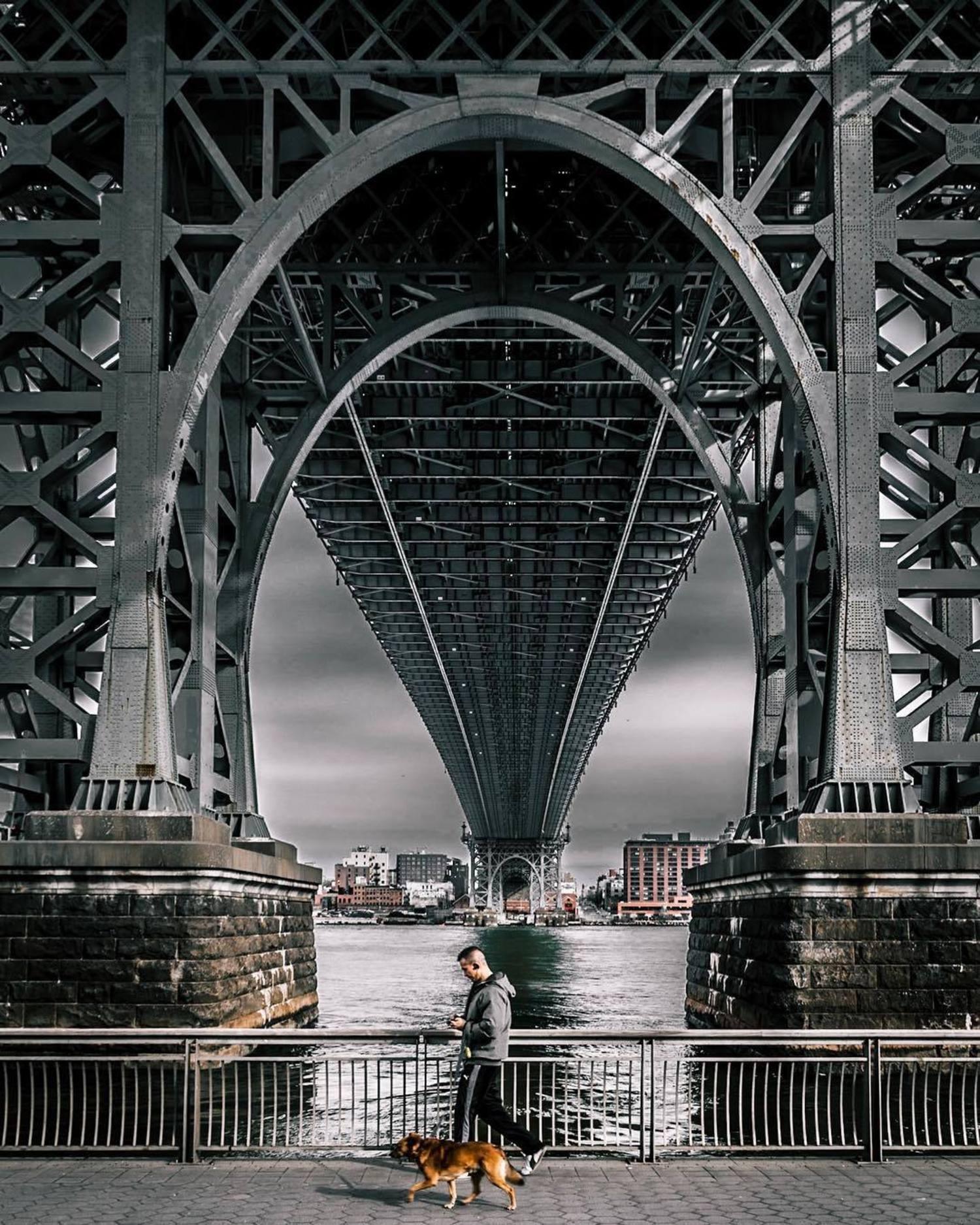 Under the Williamsburg Bridge, Brooklyn