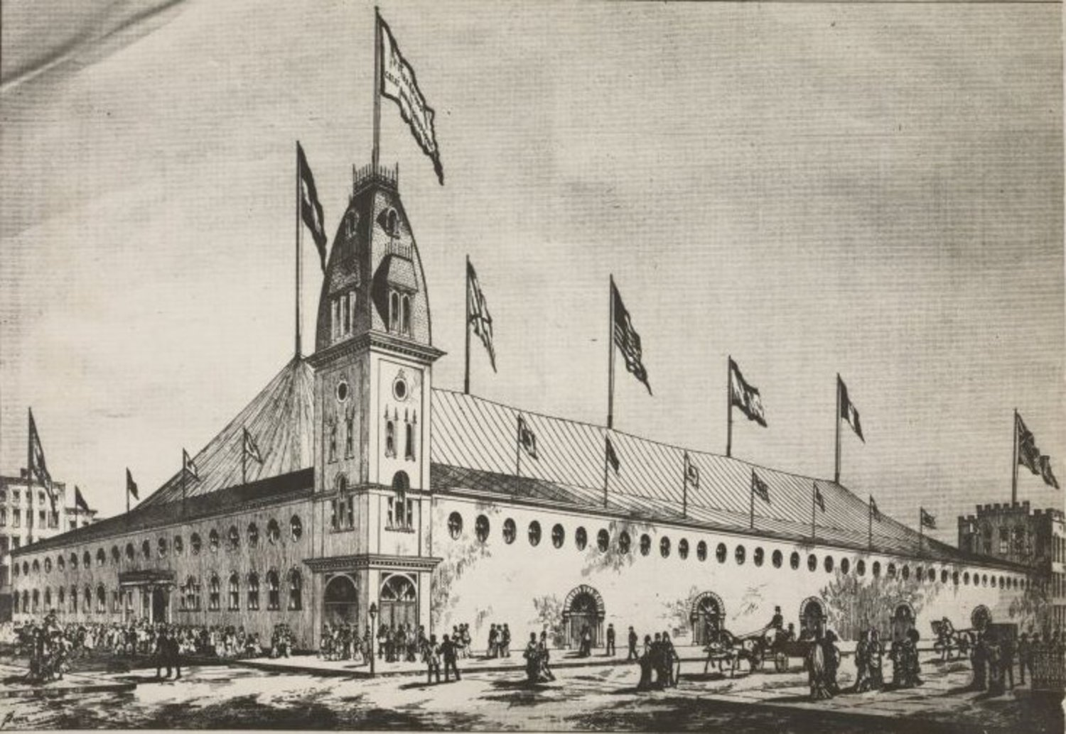 Pre-Garden: It was all Barnum, with his spectacular tented Roman Hippodrome.