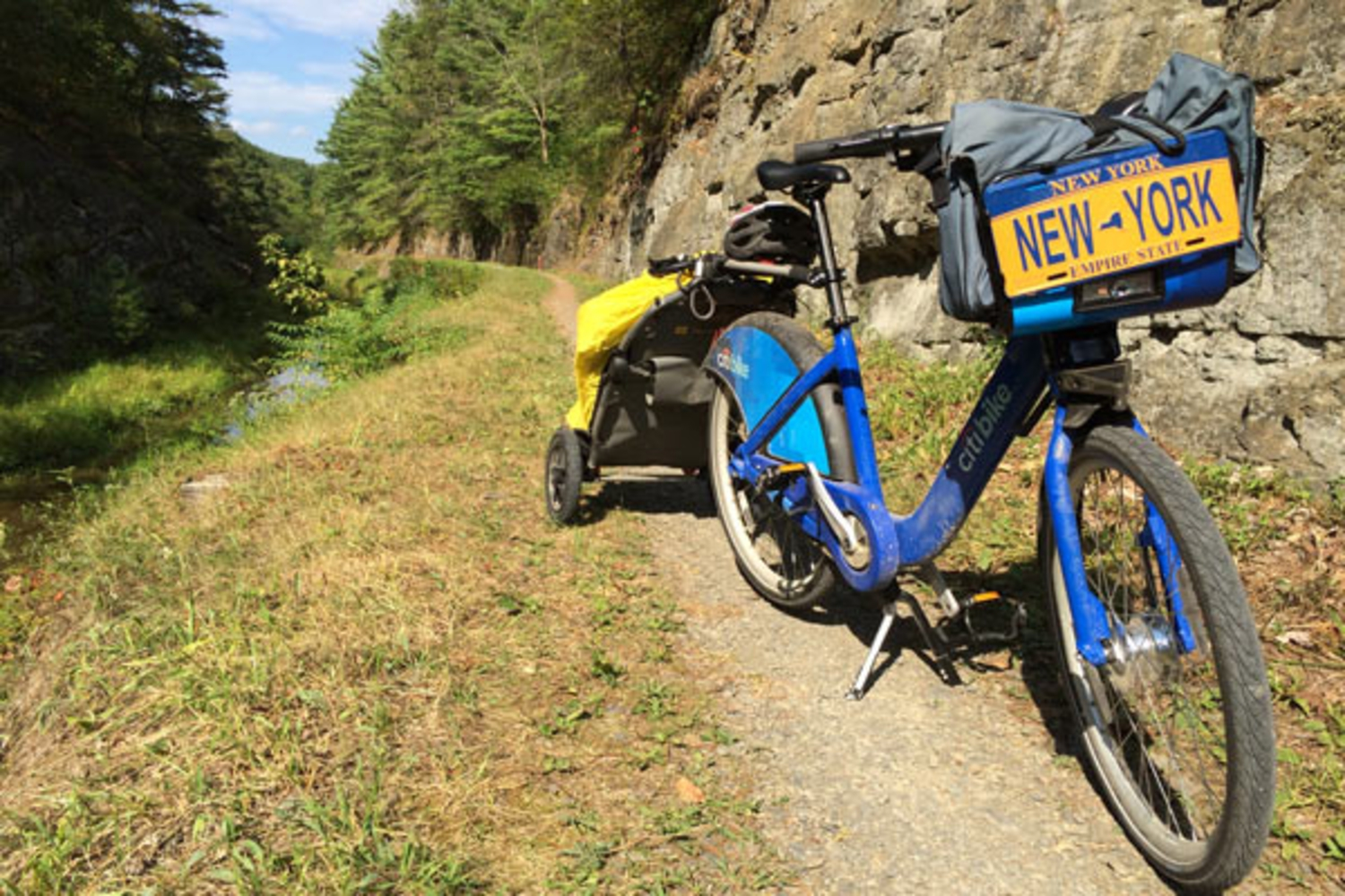 Tanenhaus marks mile 155 of the dusty C&O Canal Towpath, near Paw Paw, WV.