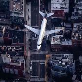 Plane over NYC.