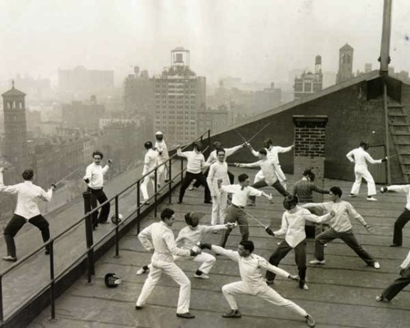Check Out This Vintage Photograph Of Nyu Students Fencing