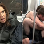 What would you do if you saw this disgusting monster on the train?