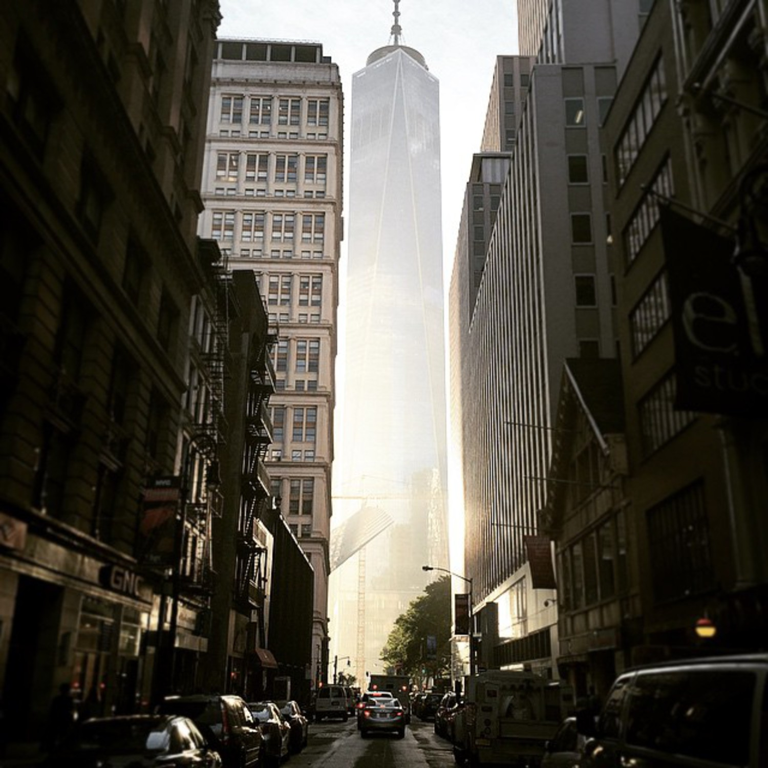 #WTC gone invisible? Photo taken outside #Wework Fulton this #afternoon #nyc #downtown