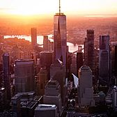 Sunrise over Manhattan.