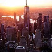 Sunrise over Manhattan.