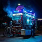 Street cart outside of 111th Street Station, North Corona, Queens