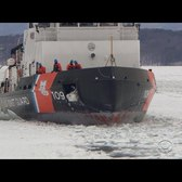 U.S. Coast Guard breaks the ice on New York's Hudson River