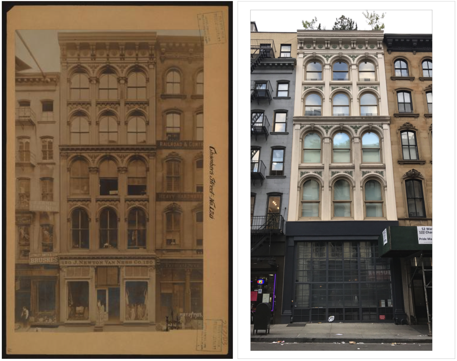 120 Chambers street (Photographer unknown, 1905). May 19, 1905 // July 4, 2017