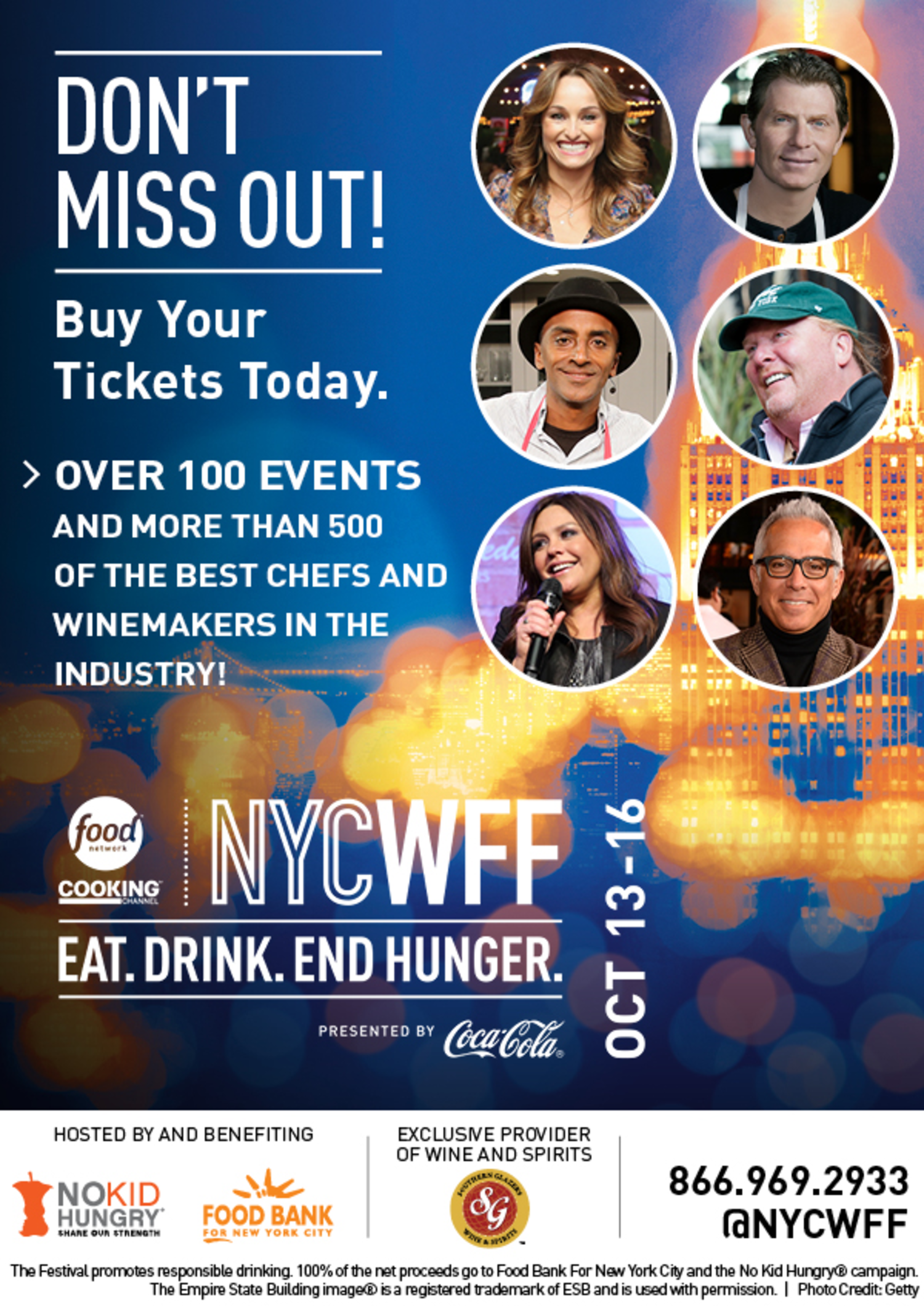 Tickets Still Available for the 2016 New York City Wine and Food Festival