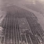 Aerial photograph looking south over Manhattan circa 1931