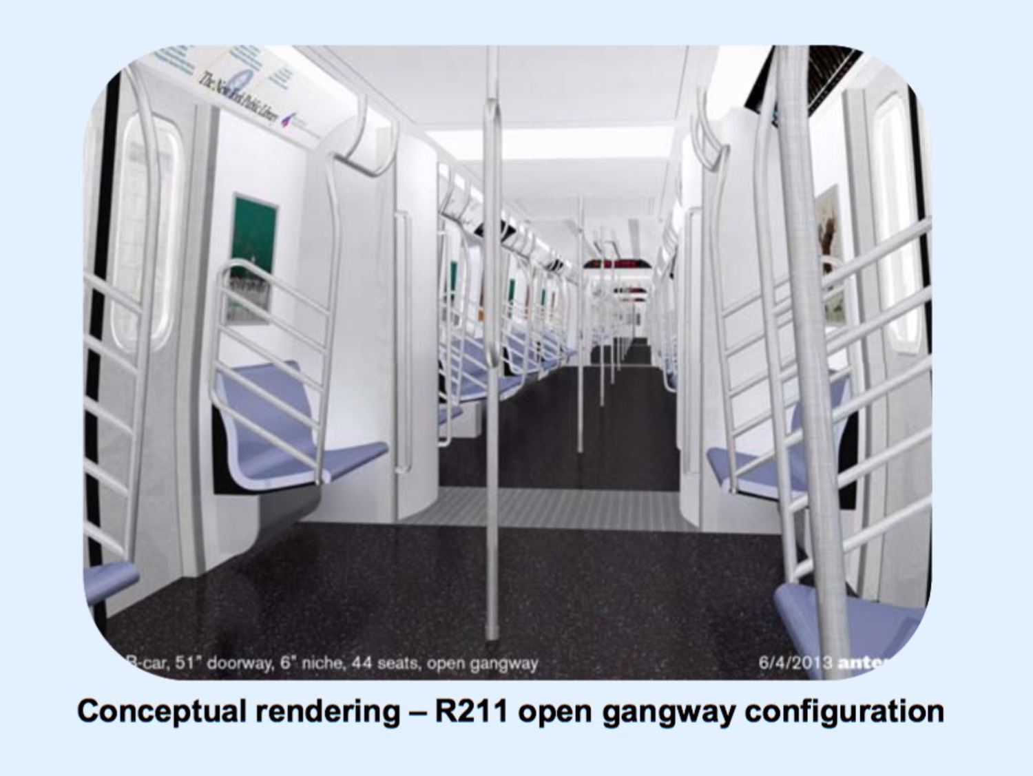 Conceptual rendering – R211 open gangway configuration