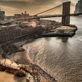 Looking over at Dumbo and Brooklyn Bridge from Manhattan Bridge!