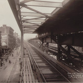 Second Avenue El from First Ave 14th Street Station Jan 13 1915