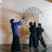 Japanese Bamboo Art: Installation Time-lapse