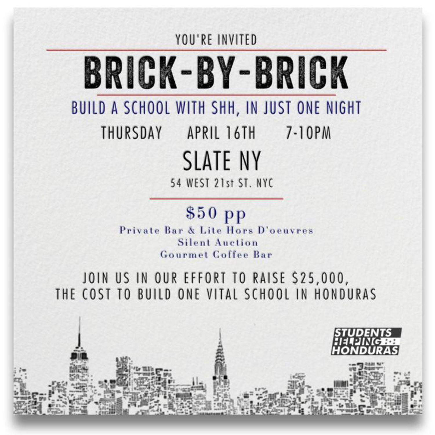 Students Helping Honduras BRick by Brick Fundraiser