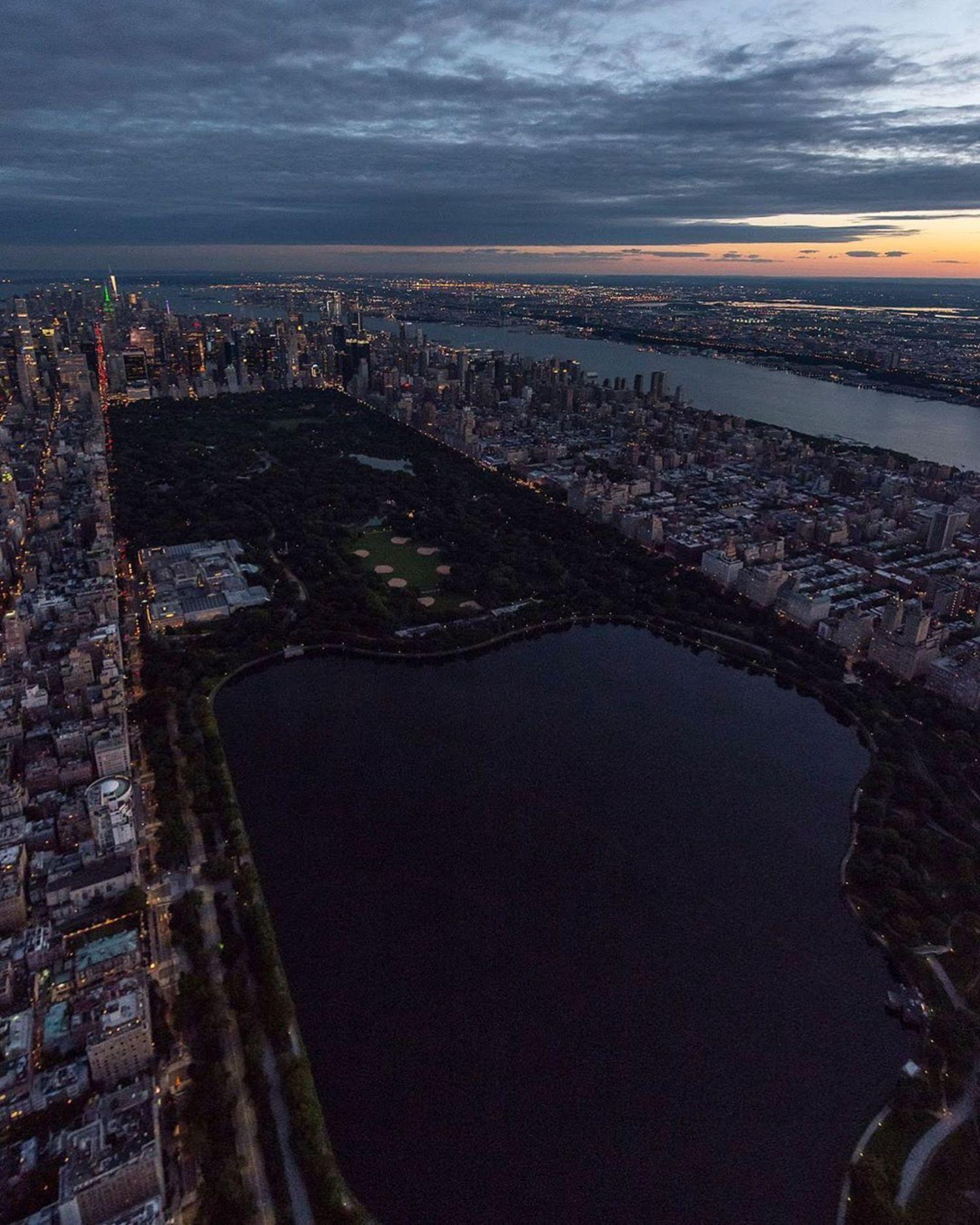 Dusk over Central Park, Manhattan