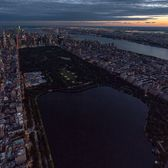 Dusk over Central Park, Manhattan