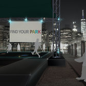 A rendering of the digital circuit board to be installed at Brooklyn Bridge Park.