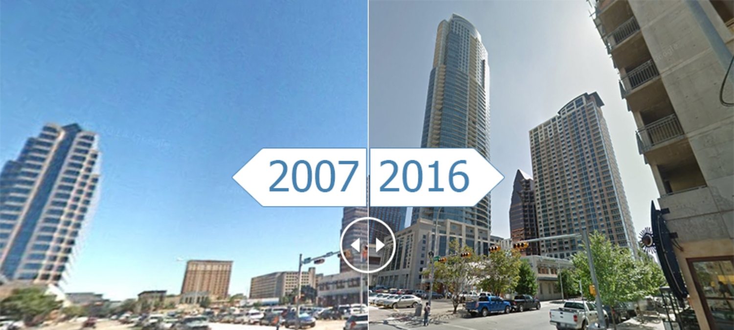 Time-Lapse Slides Show the Most Spectacular Skyline Changes in the U.S. in the Last Decade