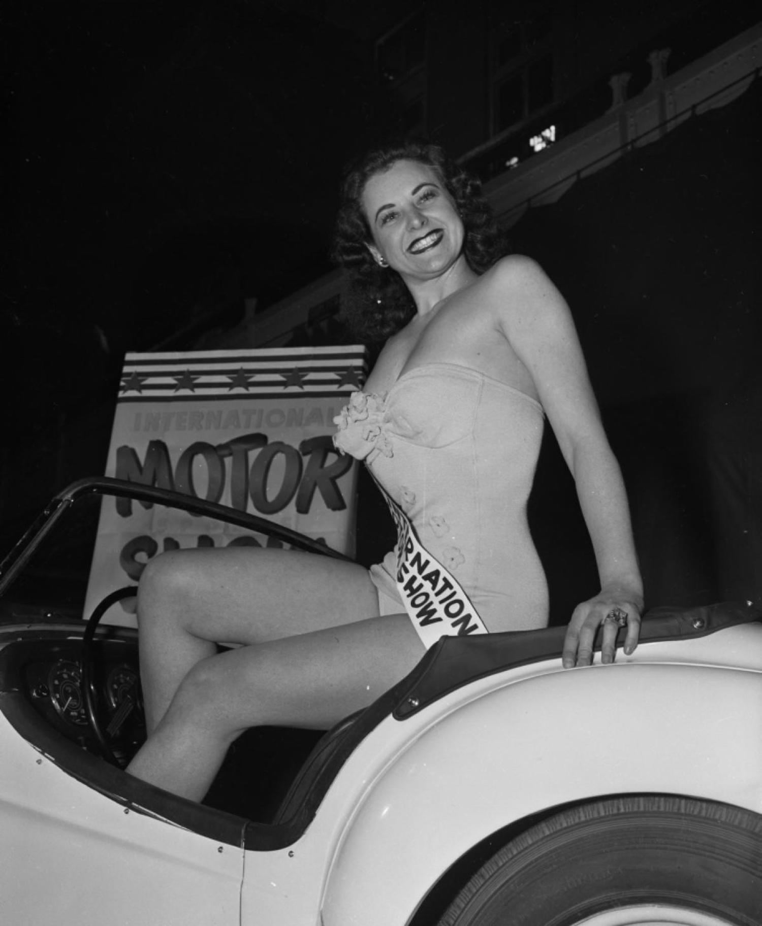 The New York Auto Show became the International Auto Show, as it promoted foreign makes and models. However, no matter the car, models (of the female variety) continued to draw a crowd.