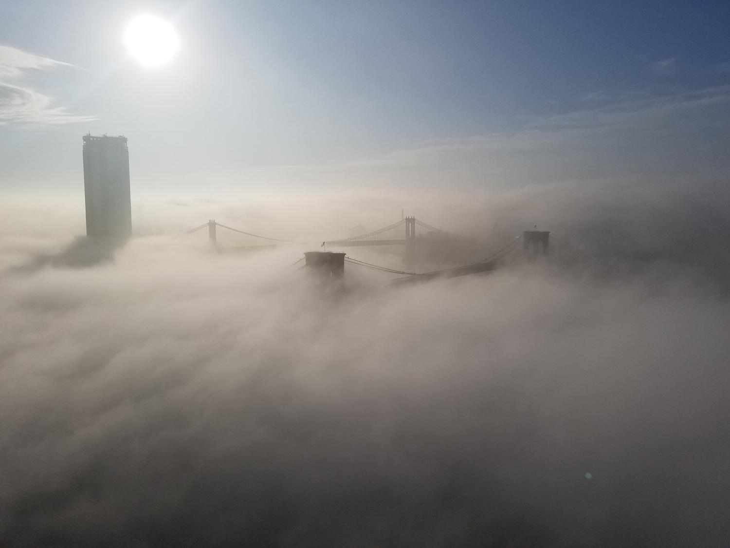 NYC fog rolling in this morning (5/15/16)