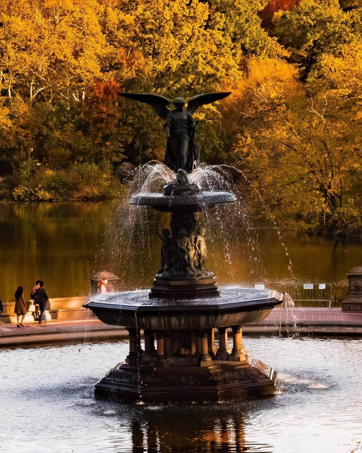 Bethesda Fountain, Central Park, New York, New York