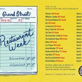 Grand Street 2015 Restaurant Week February