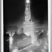 Woolworth Building at night, New York City