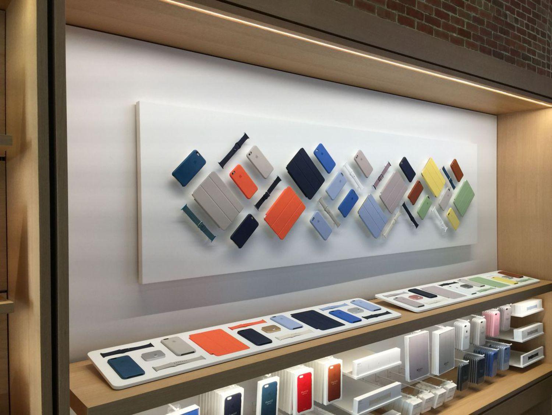 Apple says the avenue design should evoke the feeling of walking by neighborhood storefronts.