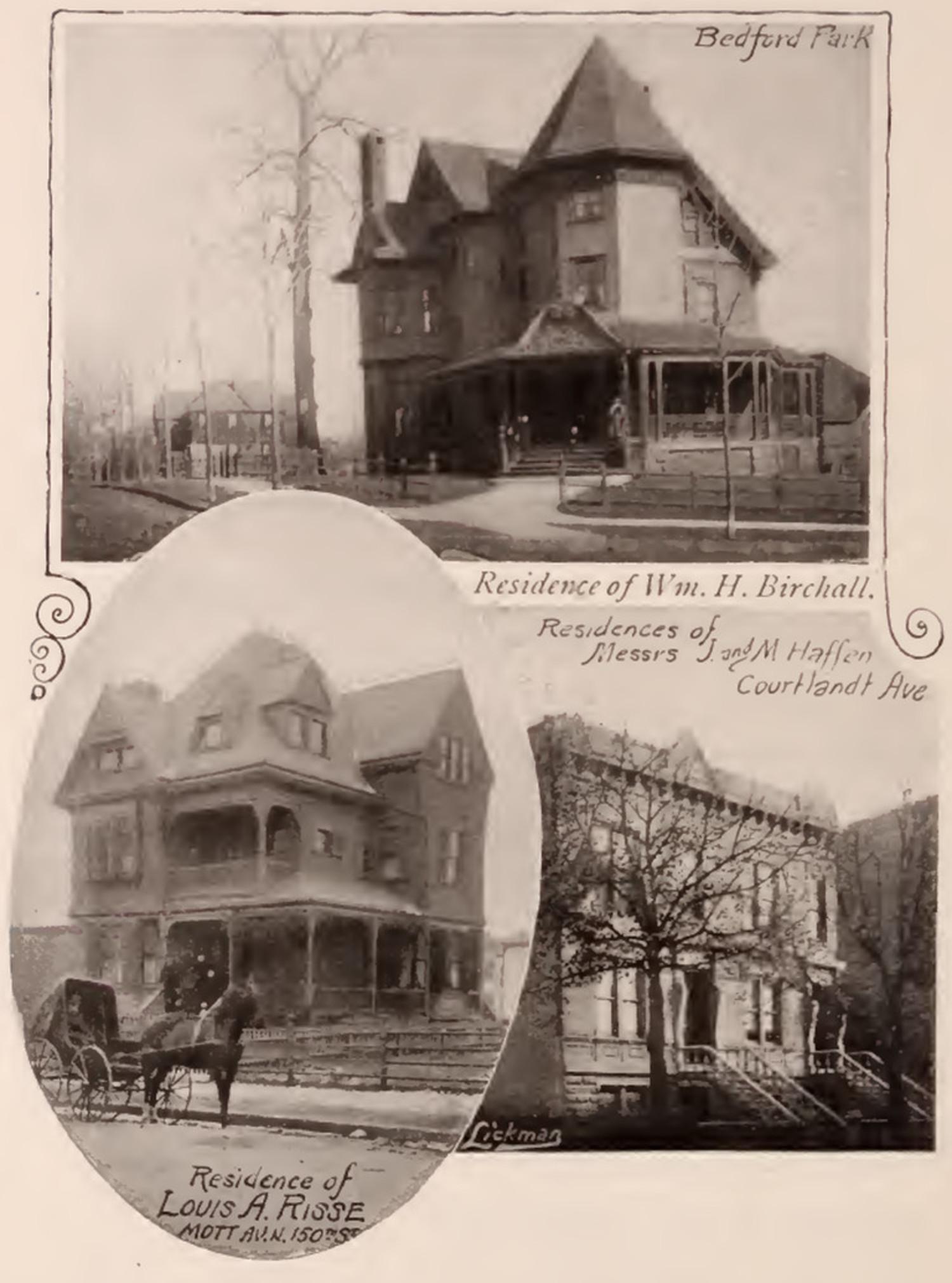 Birchall Haffen Risse residences Bronx 1897