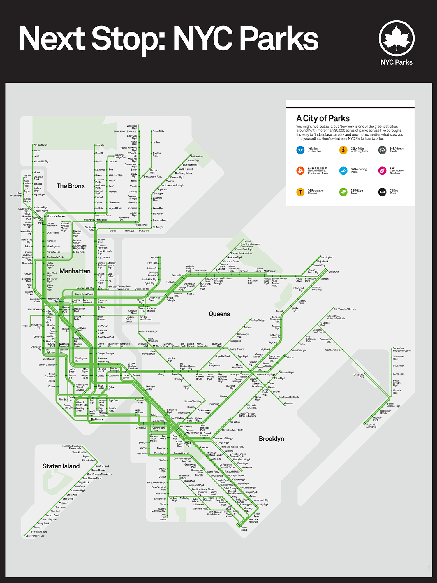 Interactive Mta Subway Map.New York City Parks Department Releases Mta Subway Style Map Of All