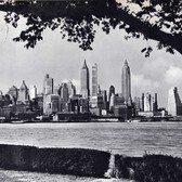 Lower Manhattan as seen from Governors Island, circa 1938