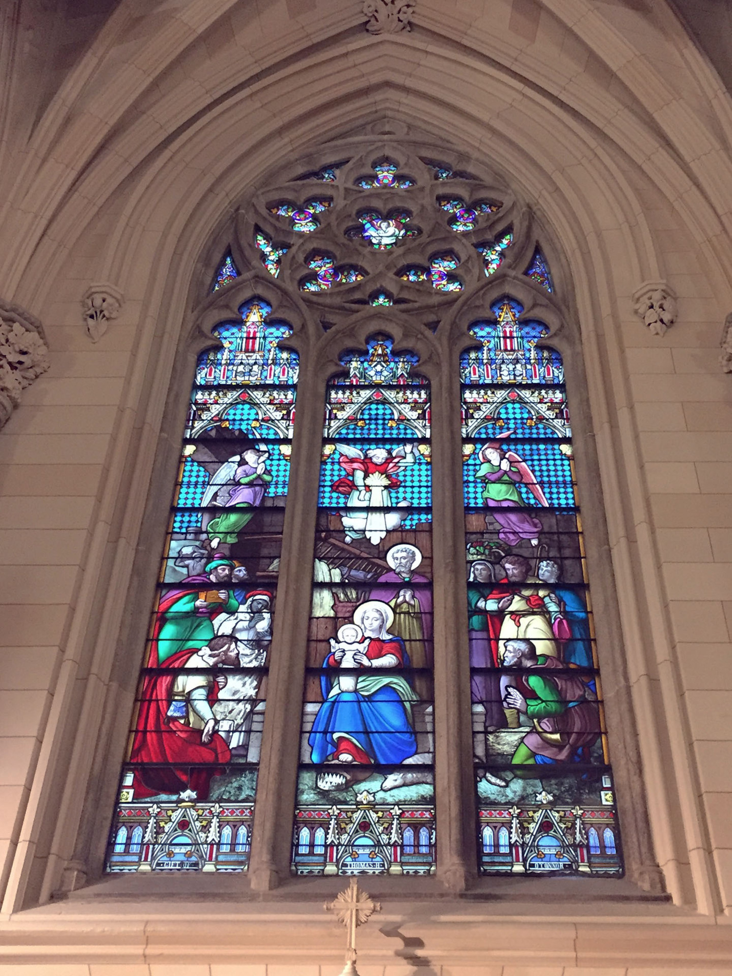 St. Patrick's Cathedral Restored Stained Glass