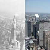 North East from Empire State Building, Left 1930, Right 2005